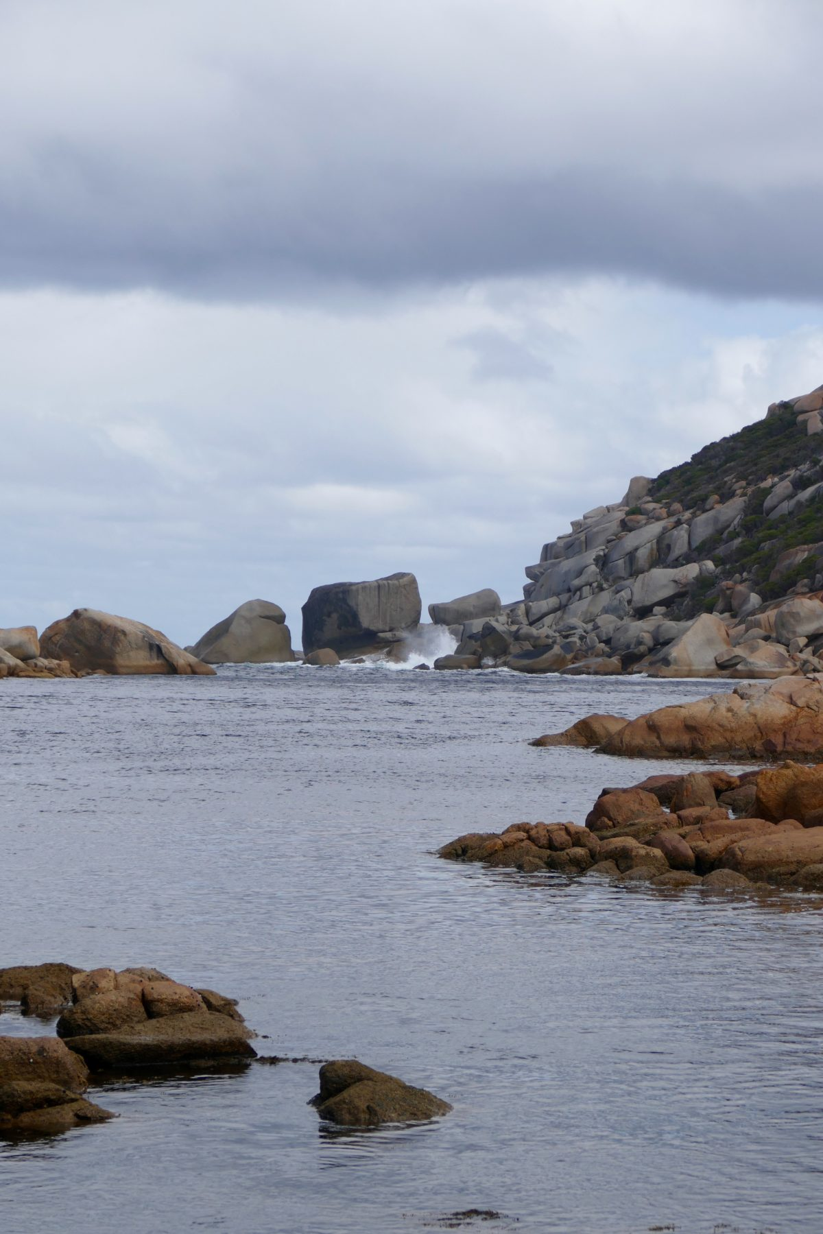 Waychinicup Inlet, meeting Southern Ocean. Calm day, Spring 2016