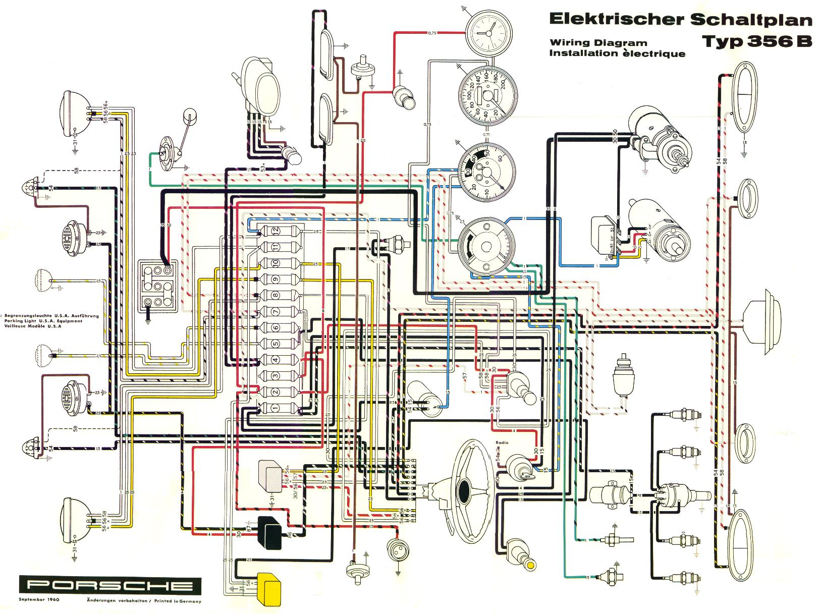 Wiring Diagram 1972 Porsche 911