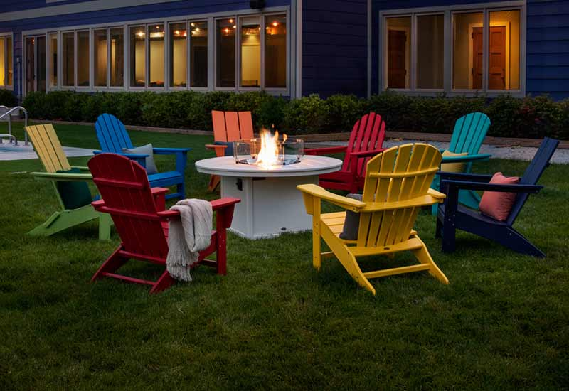 polymer patio furniture by polywood