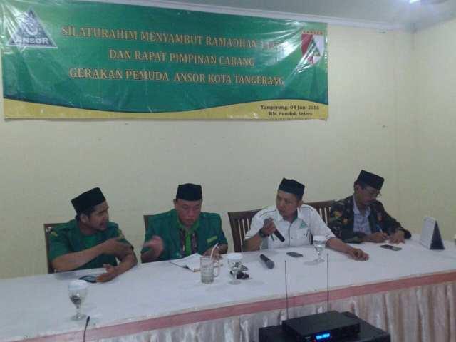 GP Ansor Kota Tangerang Gelar Silaturahmi dan Konsolidasi Antar Pengurus