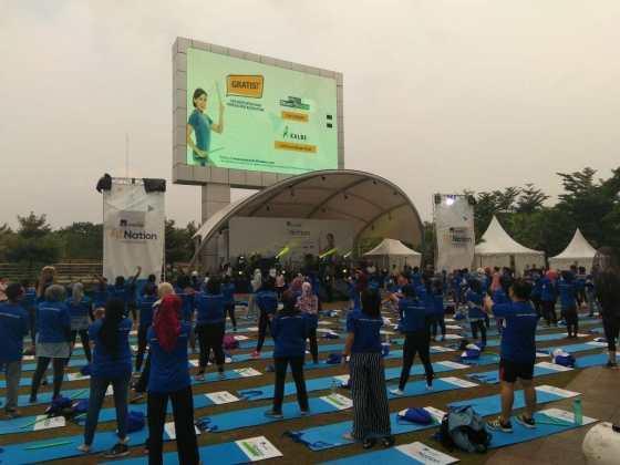 AXA Mandiri Gelar Kampanye Hidup Sehat Lewat Fit Nation Festival di Bintaro