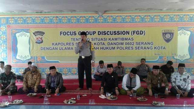 TNI dan Polri Jamin Keamanan Ulama di Kota dan Kabupaten Serang