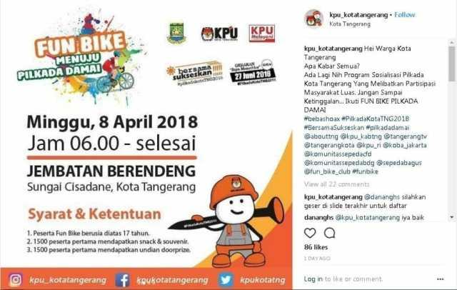 Ayo! Ikuti Fun Bike Menuju Pilkada Damai Kota Tangerang