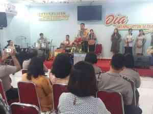 Wakapolres Metro Tangerang Kota Ajak Jemaat Sion Jaga Kondusifitas Jelang Pilkada