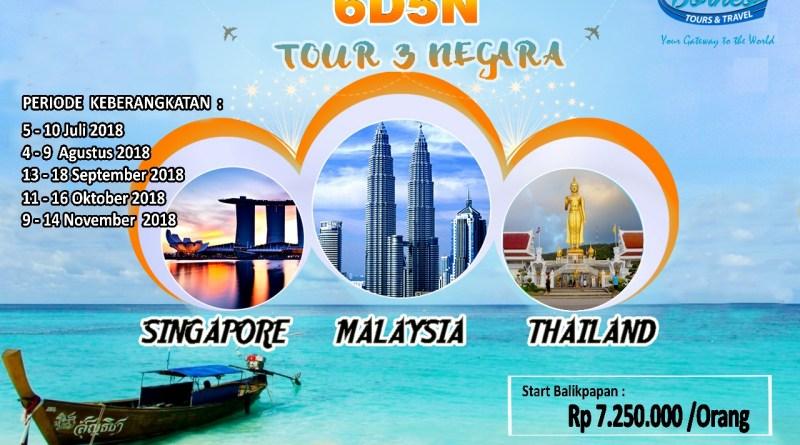 TOUR 3 NEGARA ( MALAYSIA – SIANGAPORE – THAILAND )