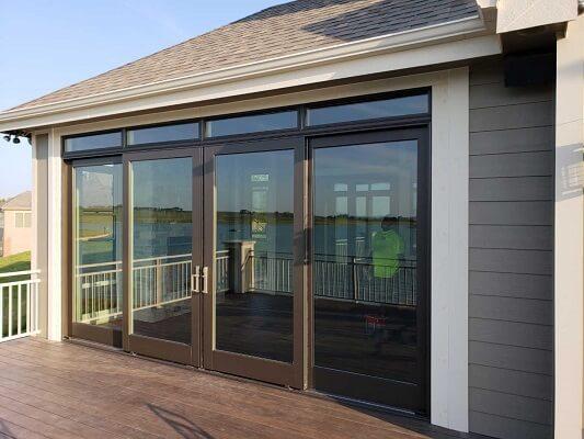 outdoor patio converted into enclosed