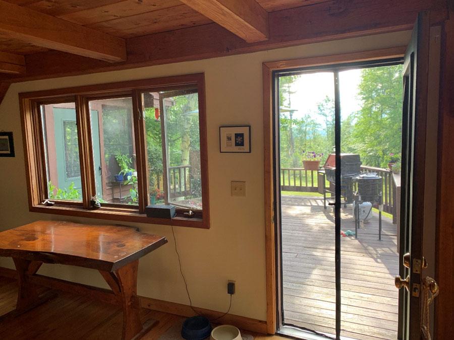 3 panel sliding patio door opens up