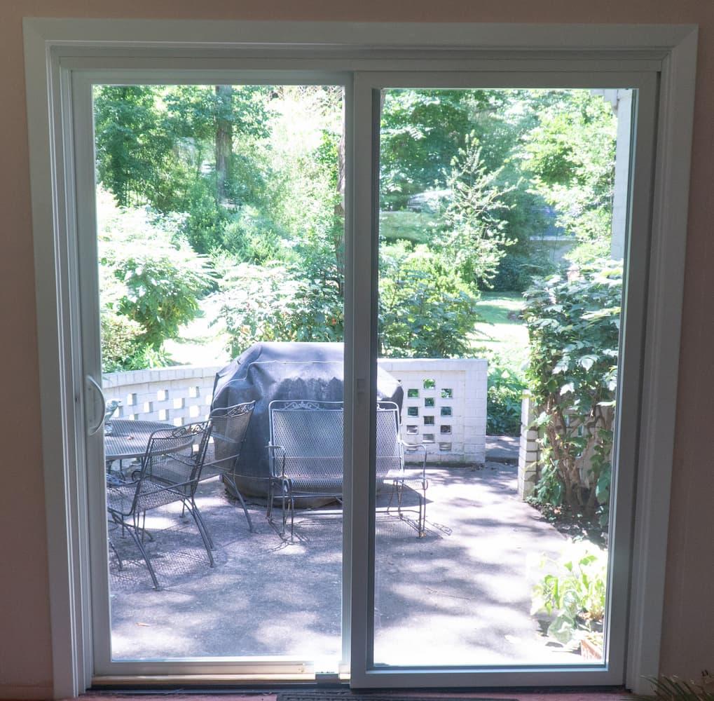 new sliding patio door improves
