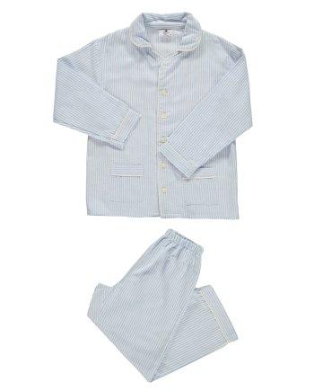 pigiama in flanella lungo bianco e celeste