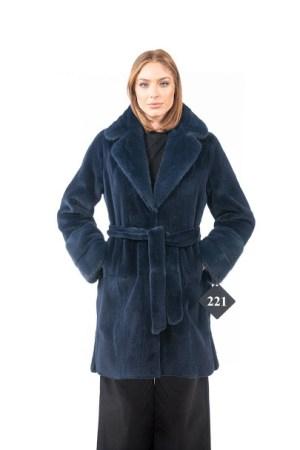 Blue mink coat
