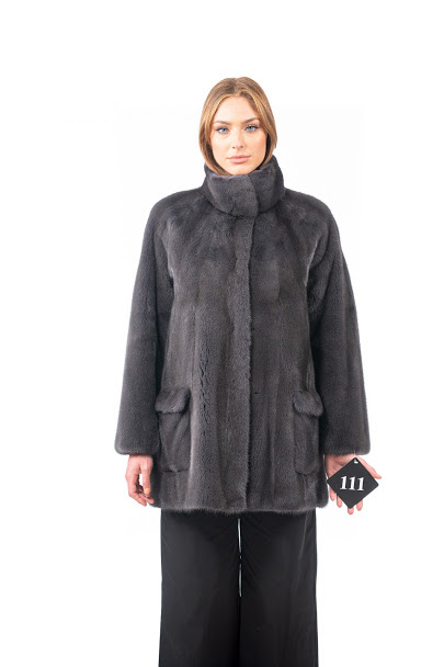 Cappottino di visone grigio