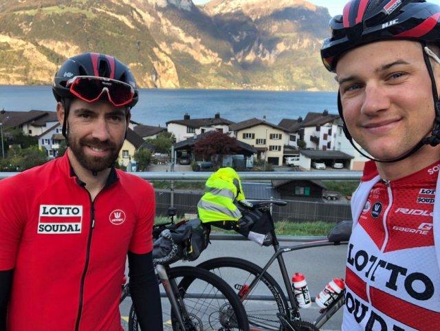 """A ultima fuga! Thomas De Gendt e Tim Wellens """"de férias"""" fazem uma ciclo-viagem!"""