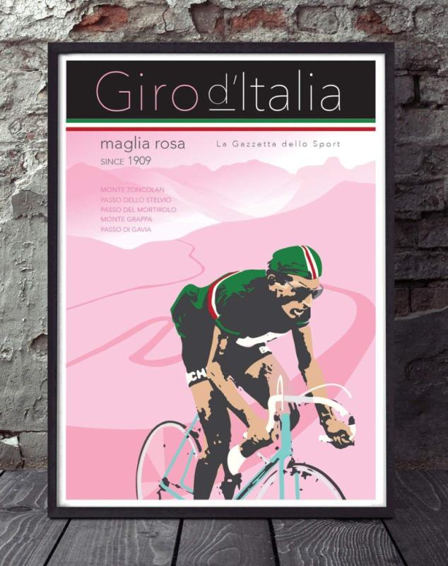 Poster do Giro d'Italia, arte por GT Artworx