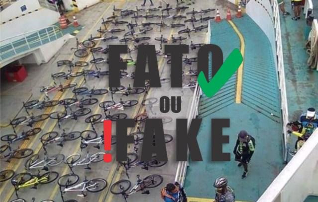 Boato: Travessia de bicicleta em Ferry a R$21,00 foto é antiga