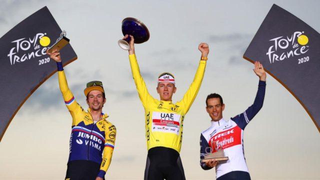 Pódio Tour de France 2020   Foto Getty