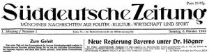 suedeutsche-zeitung-erste-ausgabe