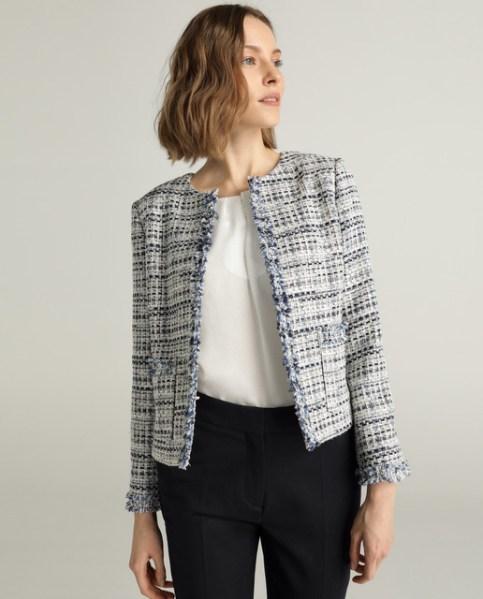 tweed ceket modası