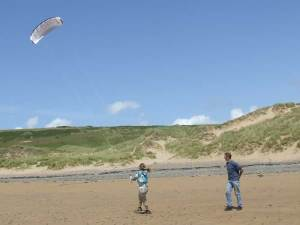 Kiting in the Pembrokeshire Coast National Park