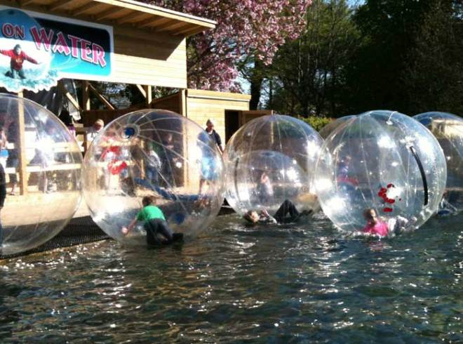 Family Holiday Activities - Walk on Water at Heatherton Activity Park