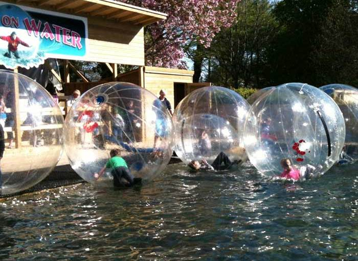 Family Holiday Activities - Walk on Water at Heatherton Activity Park