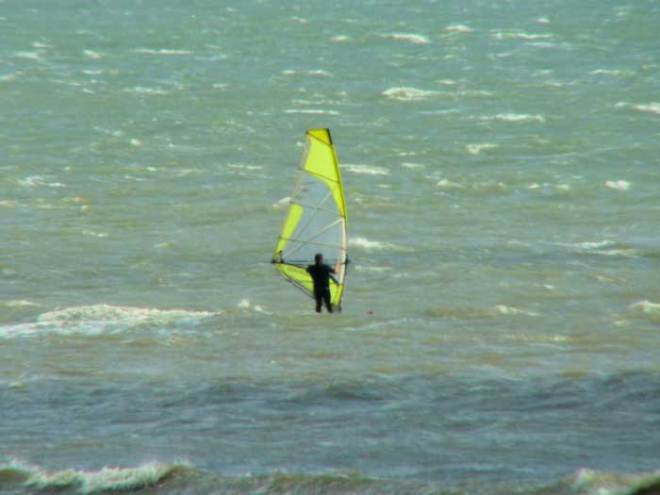 Windsurfing in the Pembrokeshire Coast National Park