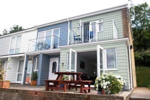 Exterior and patio at Seahorse 64 Freshwater Bay Holiday Village