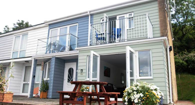 Exterior and patio at Seahorse 64 Freshwater Bay Holiday Village