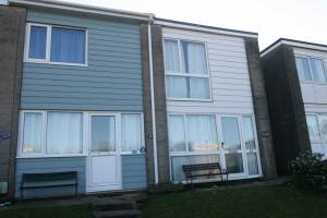 Front elevation of 'Puffin' 61 Freshwater Bay Holiday Village