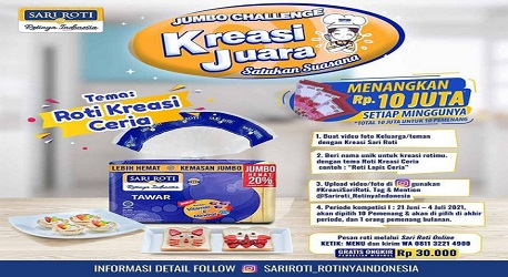Lomba Kreasi Sari Roti Berhadiah Jutaan Rupiah