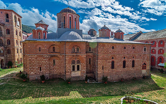 Katholikonul Mănăstirii Xiropotamu - foto pr. Contantin Prodan