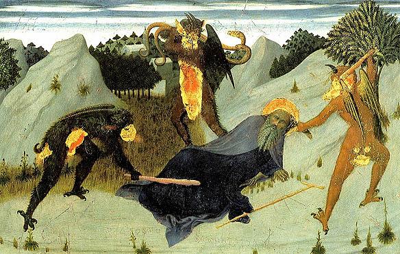 Saint-antony-beaten-by-the-devils--_Sassetta--Siena_Pinacoteca IN