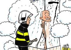 PENTekening: 'Brandweer rukt uit voor stoombadje'