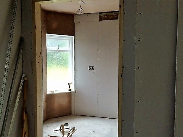 The store, before plastering