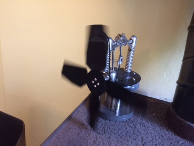 Our new Sterling engine-driven stove fan