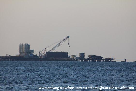 Construction work on Second Penang Bridge