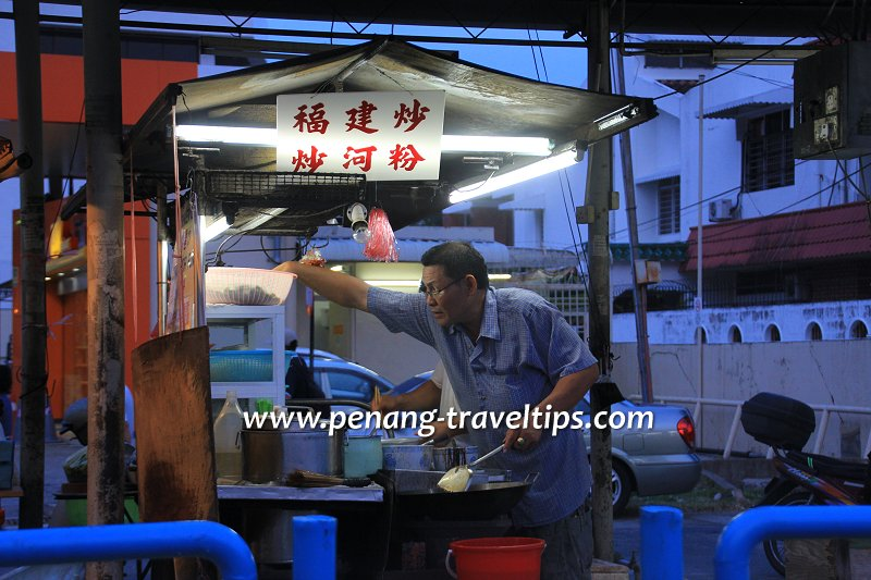 The Hokkien char at Padang Brown Johore Road Hawker Centre