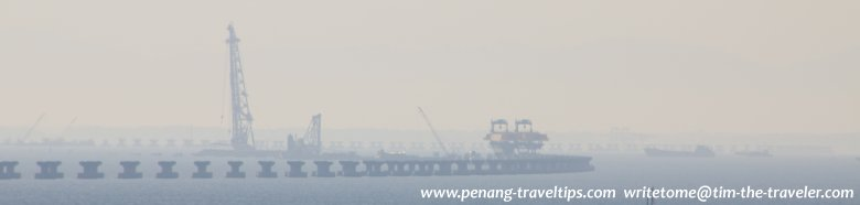 Construction of 2nd Penang Bridge in progress