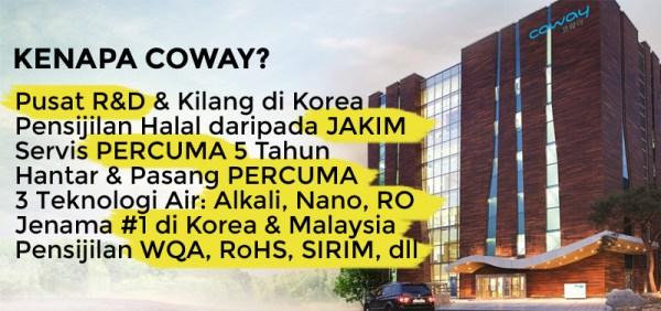 Ejen Penapis Air Coway Bukit Tunku
