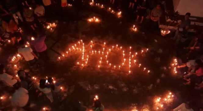 Aksi Seribu lilin untuk Ahok Diwarnai Dengan Aura Mistis