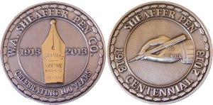 Sheaffer Centennial 100 Year Coin - Sheaffer Giveaway