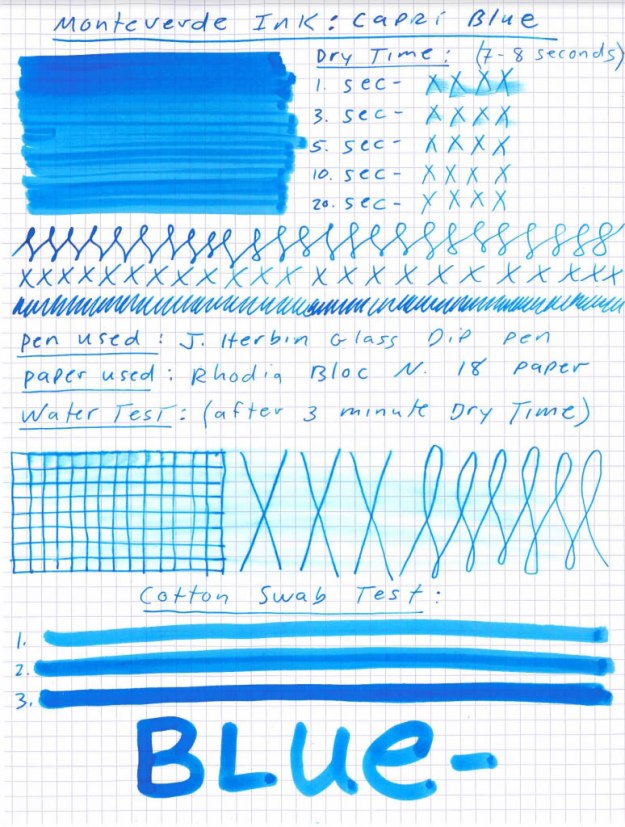 Monteverde Capri Blue Ink
