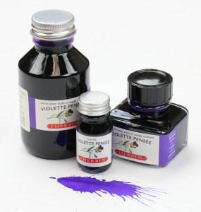 J Herbin Violette Pensee Ink Bottles