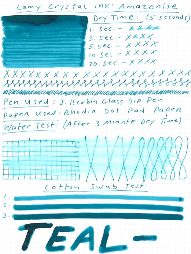 Lamy Crystal Amazonite Ink Review