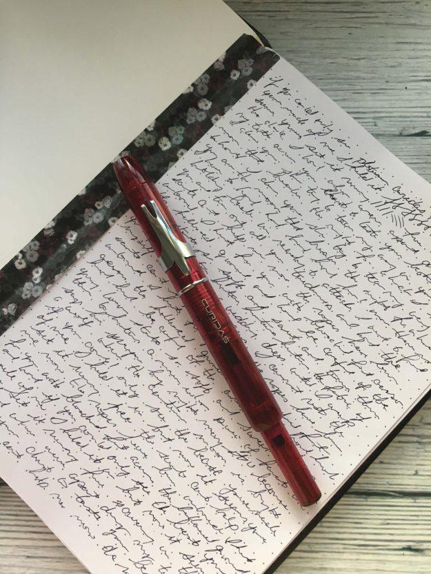 platinum curidas retractable fountain pen review for Pen Chalet