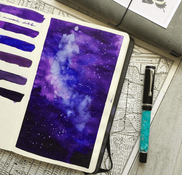 Battle of the Purple Inks with Melissa Naujoks and Pen Chalet
