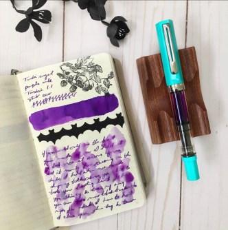 Battle of the Purples with Melyssa Naujoks and Pen Chalet featuring twsbi Royal Purple ink
