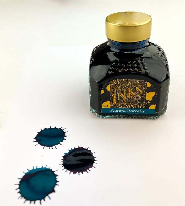 Diamine Aurora Borealis Ink Review