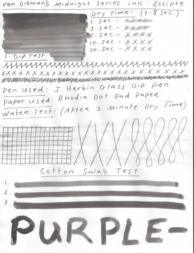 Read the full Van Dieman's Midnight Series Eclipse ink review.