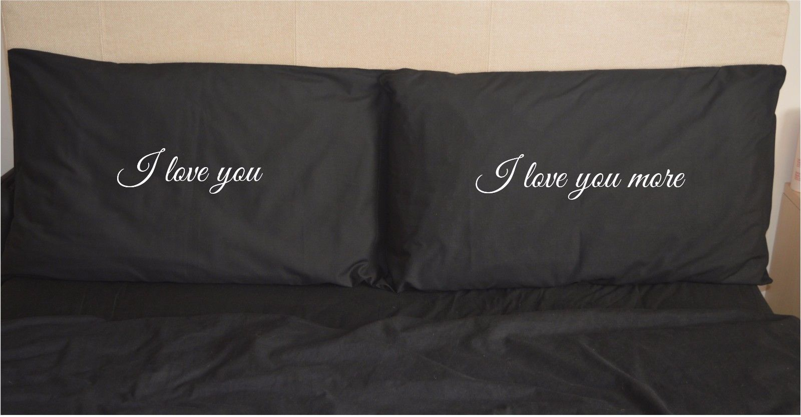 i love you more funny pillowcases black pillow case gift wedding pair valentines