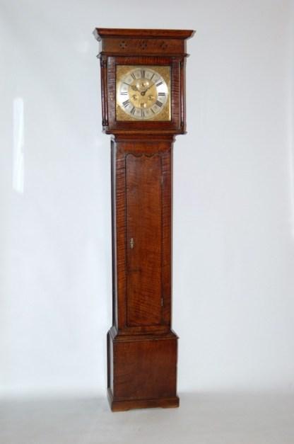 Stunning early oak grandfather clock